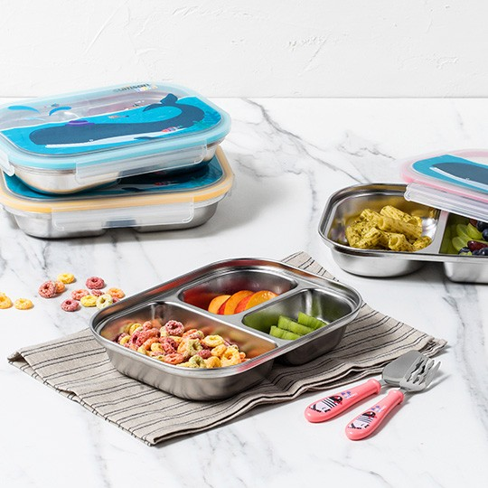 Infant 4 Compartment Food Tray